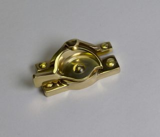 SRS Hardware Lacquered Brass Lock Closed