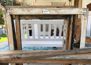 During- Scraped Window Sash ready for Paint