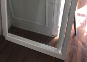 After- Lower Sash with New Glass, Putty, and Paint