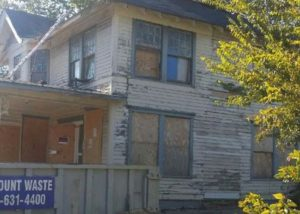 Before Photo - Front of 1925 Craftsman House